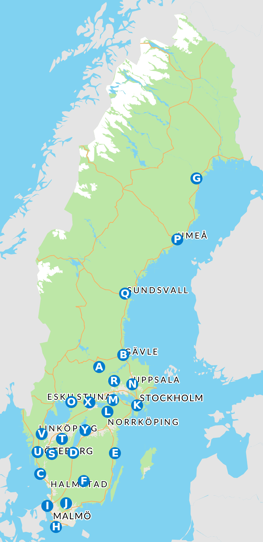 Karta över rättspsykiatriska kliniker