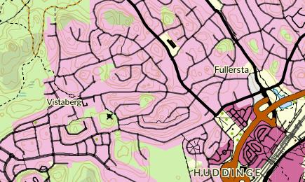 Nyinflyttade p Lidavgen, Huddinge   unam.net